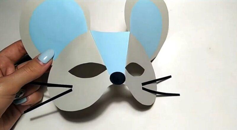 маска мышки из бумаги