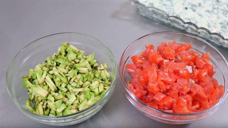 авокадо и рыба