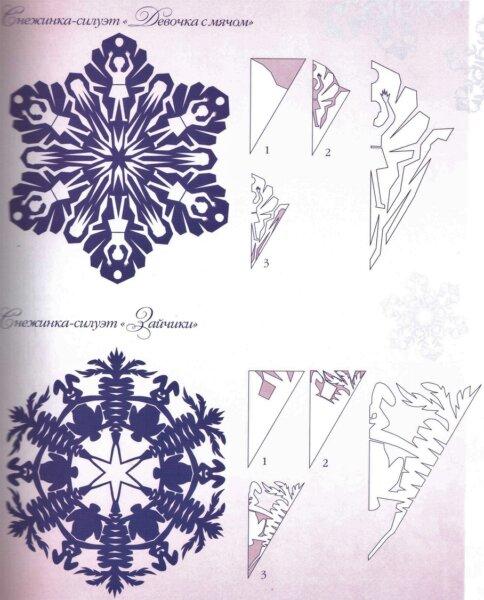 красивые шаблоны снежинок