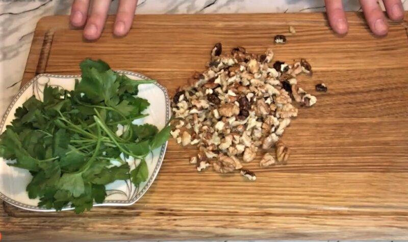 нарезка грецких орехов