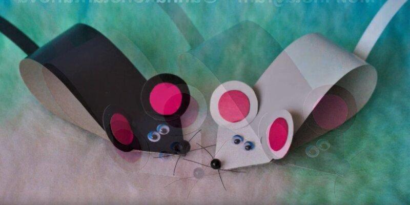 мышки из бумаги