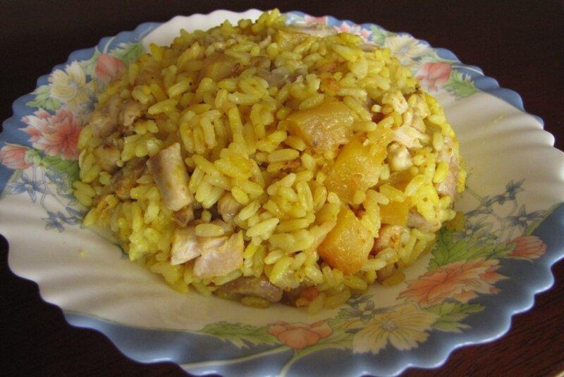 рис и свинина в духовке