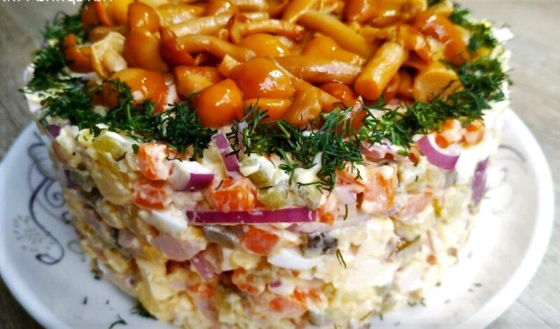 вкусный и простой салат вместо Оливье