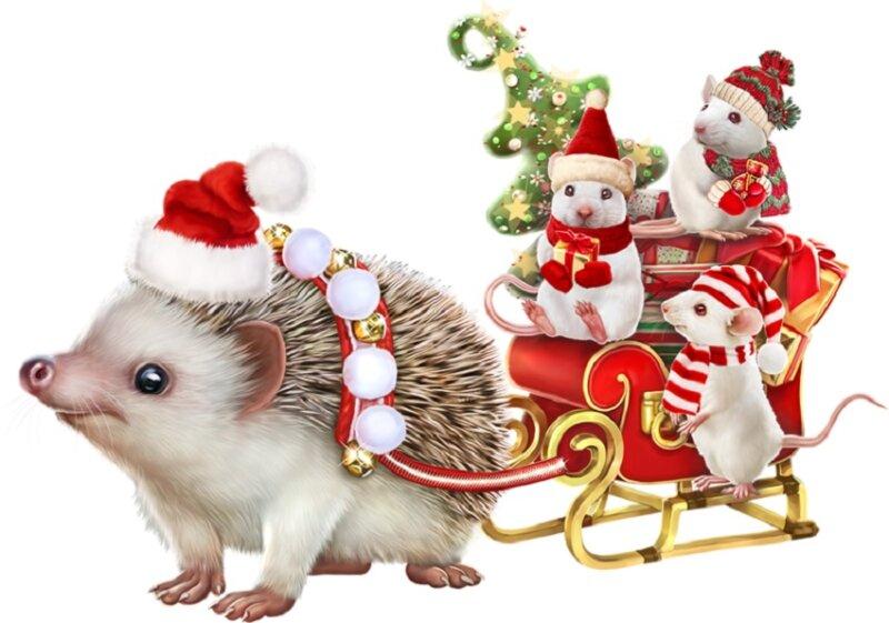 мышки в санках