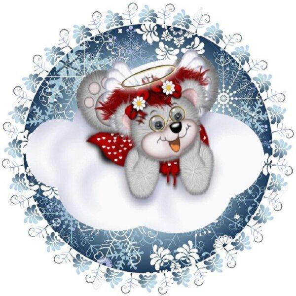 снежинка крыса - новогодние картинки