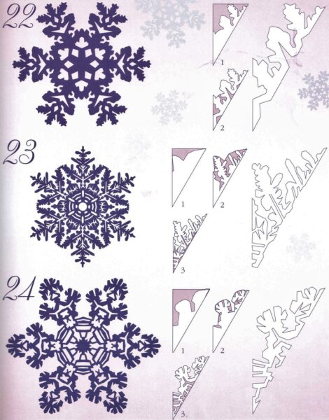 шаблоны снежинок с картинками
