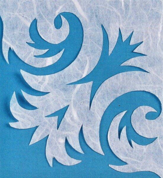 морозный узор из бумаги