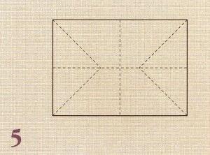 линии сгиба бумаги