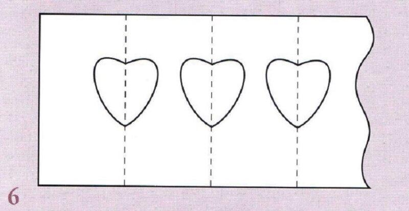 вырезанный шаблон сердечка