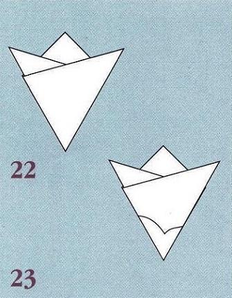 согнутый шаблон бумаги
