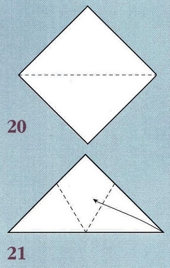 сложенный квадрат бумаги