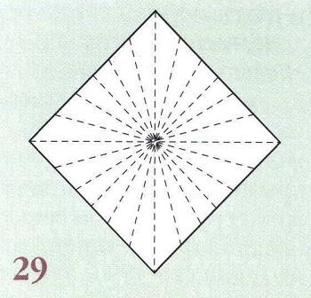 рисунок сгибов бумаги