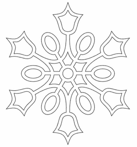 снежинка из бумаги - новогодние картинки