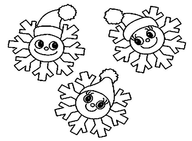 снежинки клоуны - новогодние картинки