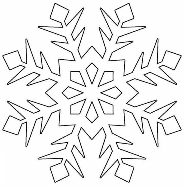 трафарет снежинки - новогодние картинки