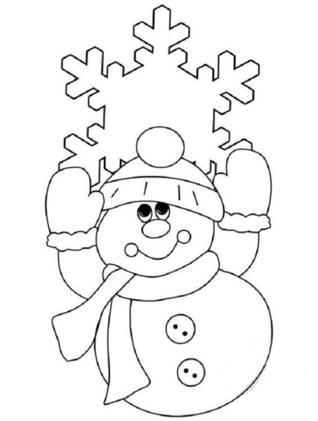 дед мороз и снежинка - новогодние картинки