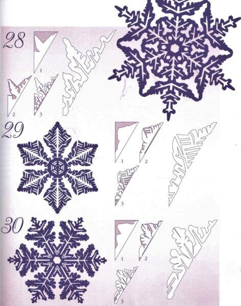 снежинки подобия с шаблонами