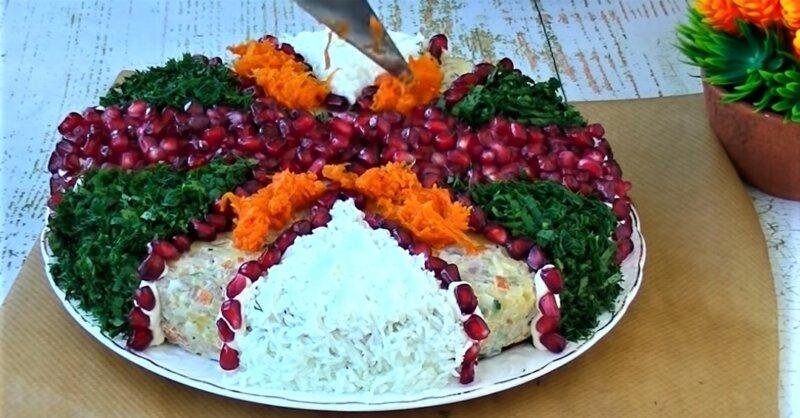 украшение салата