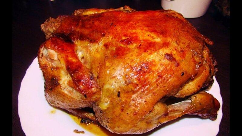курица со свининой