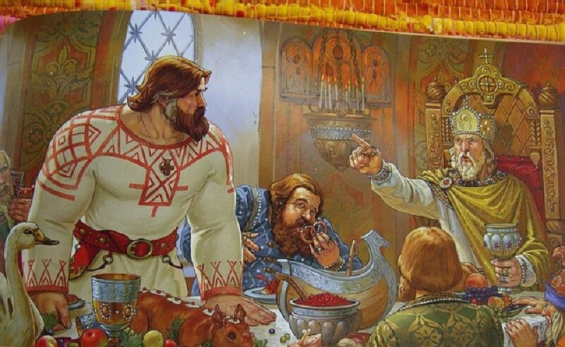 ссора богатыря муромца с князем