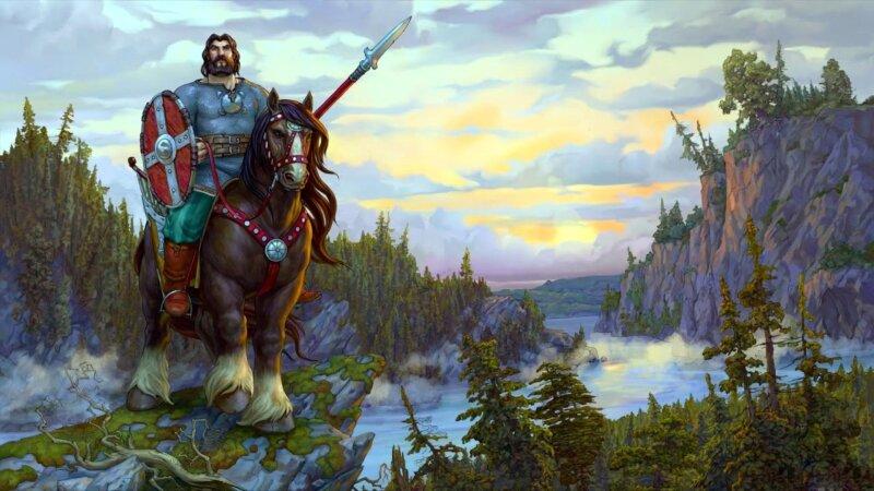 богатырь поехал в Киев