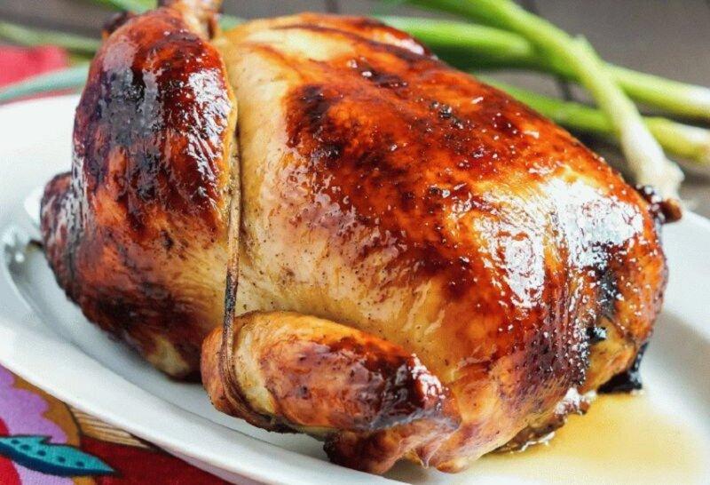 курица целиком с маслом