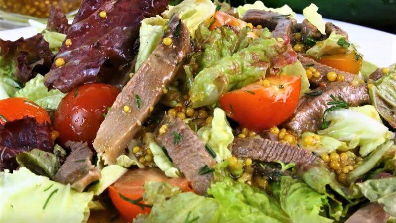 салат с пекинской капустой и языком