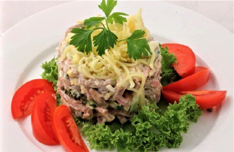 Салат с языком — 7 очень вкусных рецептов языка в салате