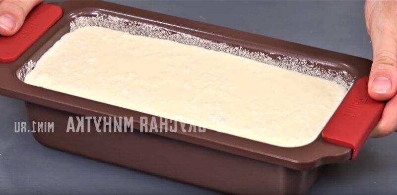 творожное тесто в форме