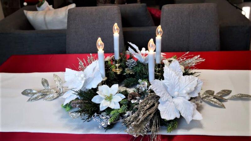как украсить квартиру свечами и цветами