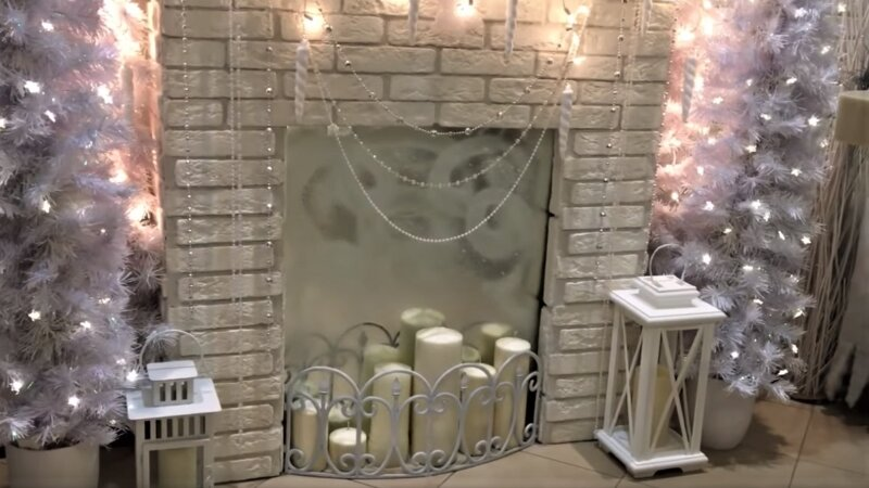 свечи у камина