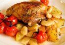 Курица с картошкой в духовке — рецепты самые вкусные