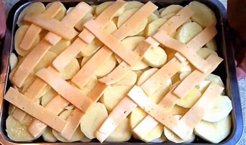 сыр на картошке