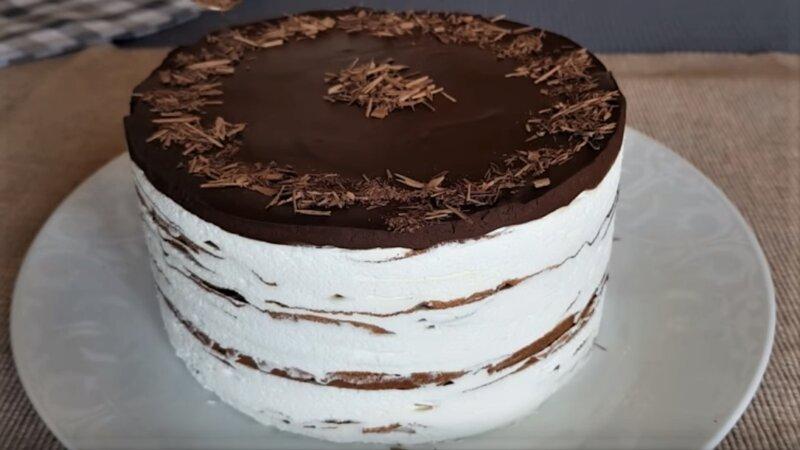 шоколадный блинный торт