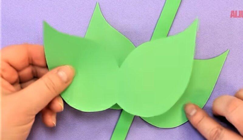 склеивание листочков