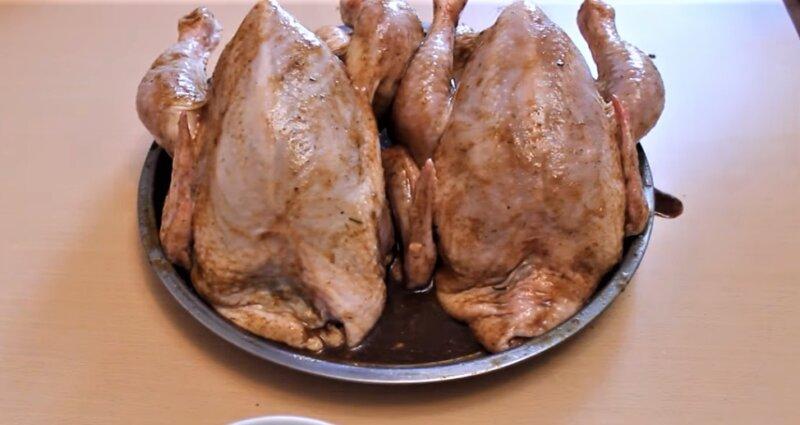 обмазанные цыплята