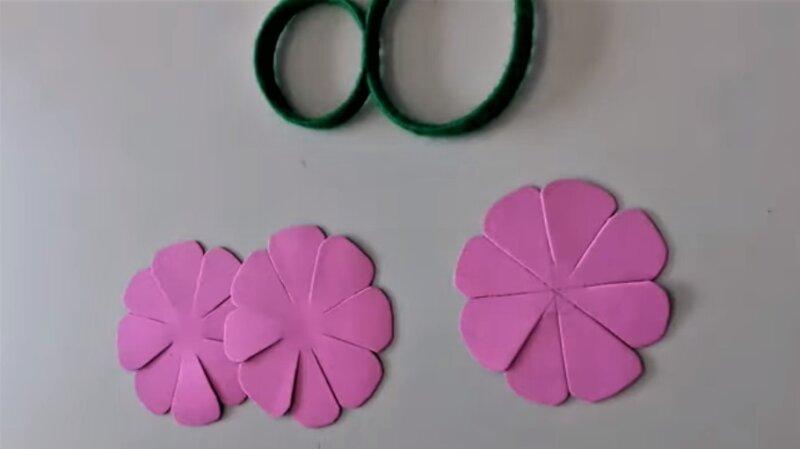 лепестки из фоамирина