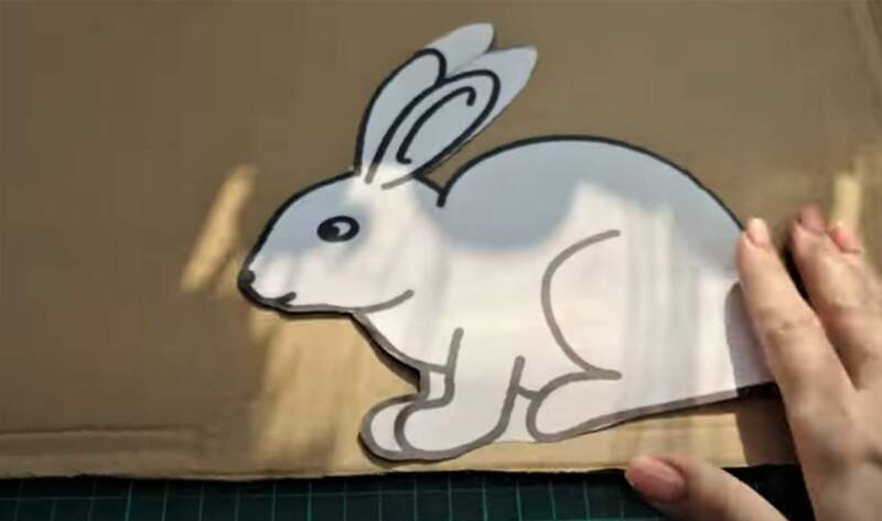 шаблон кролика