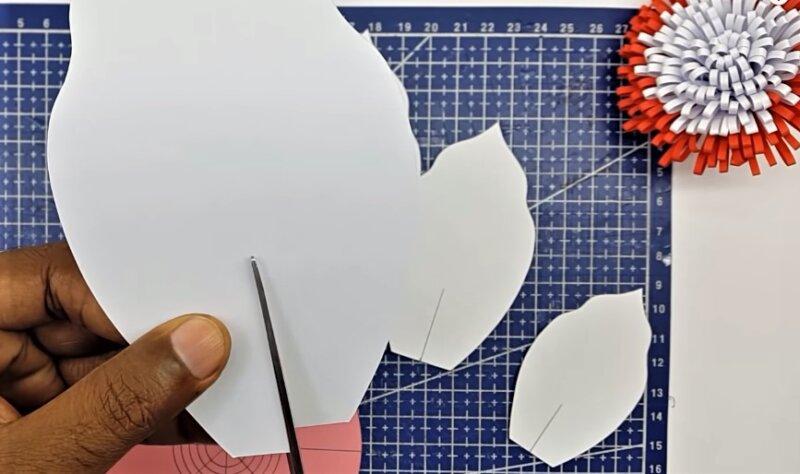 разрез бумаги