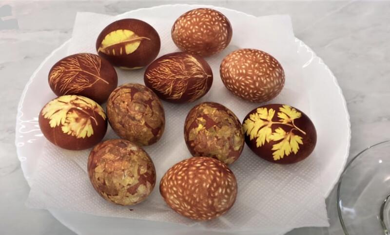 покраска яиц рисунком