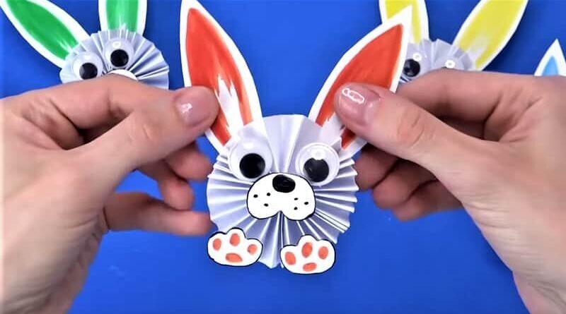 симпатичный кролик из бумаги