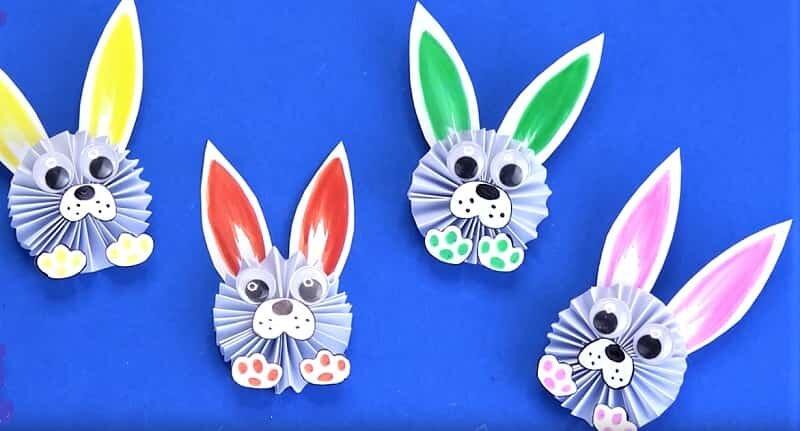 много кроликов из бумаги