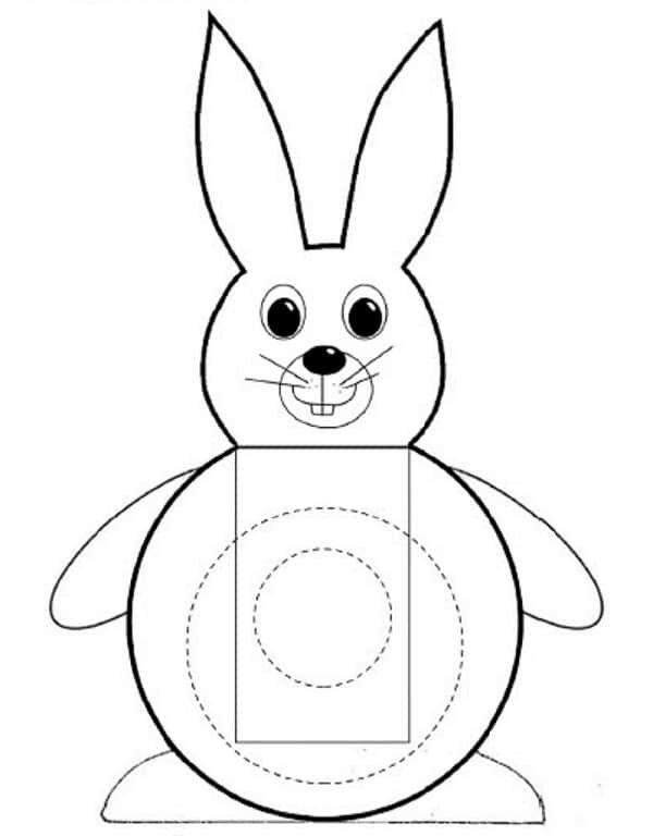 шаблон фигуры кролика