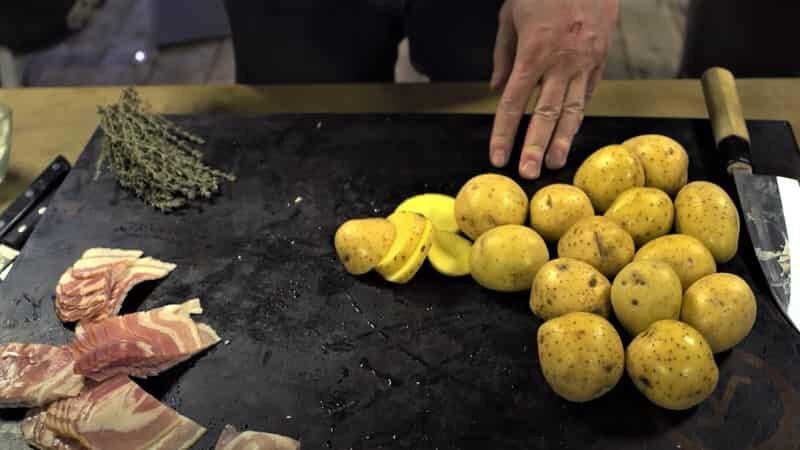 бекон и картофель