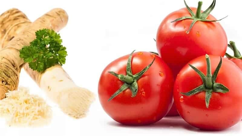 хрен и томаты