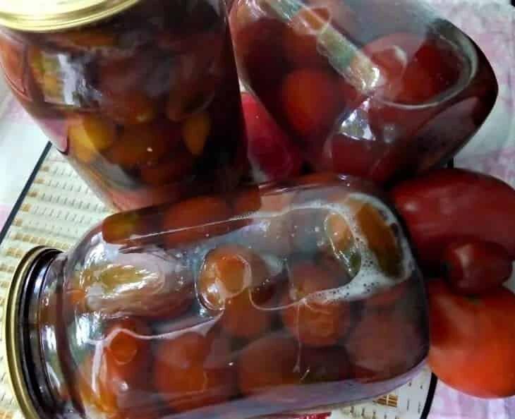 томаты в соке черноплодки