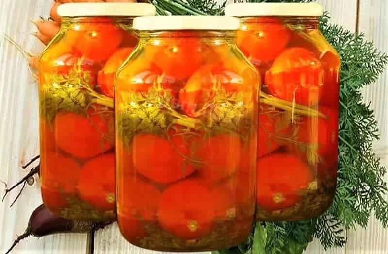 рецепт помидоров на зиму