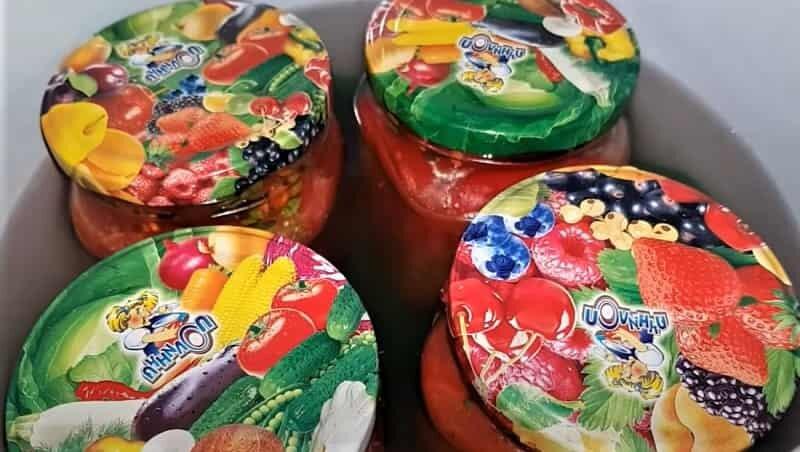 банки с помидорами по-корейски