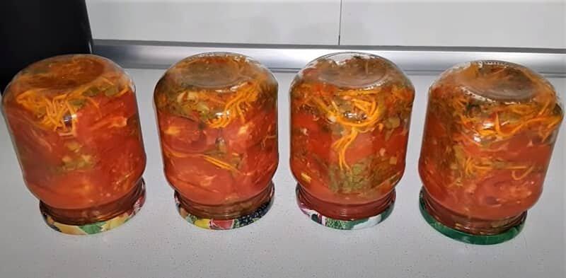 помидоры по-корейски в банках