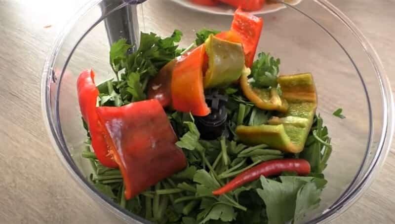 овощи в миксере